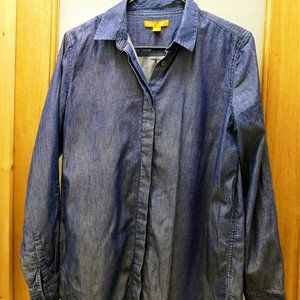 Joe Fresh Denim Button Down Long Sleeve Shirt sz M
